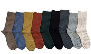 Lian LifeStyle Women's 4 Pairs Pack Fashion Soft Wool Crew Socks Size 6-9 HR1690
