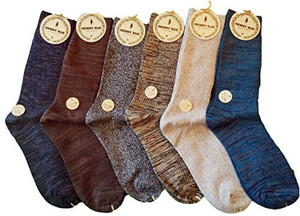 Lian LifeStyle Women's 6 Pairs Mid Calf Cotton Socks Size 7-10 Random Colors