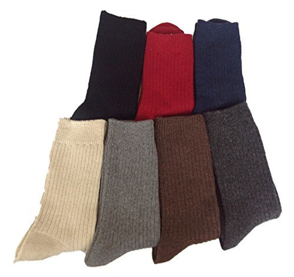 Lovely Annie Men's 3 Pairs Wool Socks One Size 7-9