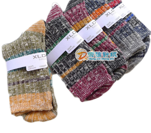 Lovely Annie Men's 5 Pairs Pack Combed Cotton Mixed Color Socks Size 8-10