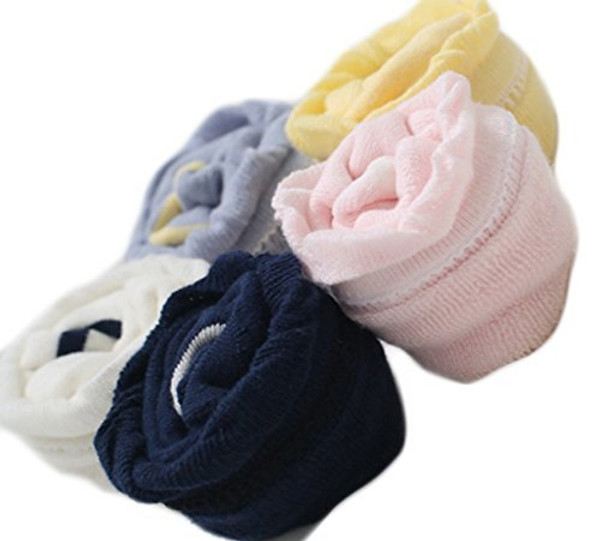 Lian LifeStyle Baby Girl Toddler 1 Pair Combed Cotton Over-the-Knee High Socks Size 0Y-3Y Multi Color
