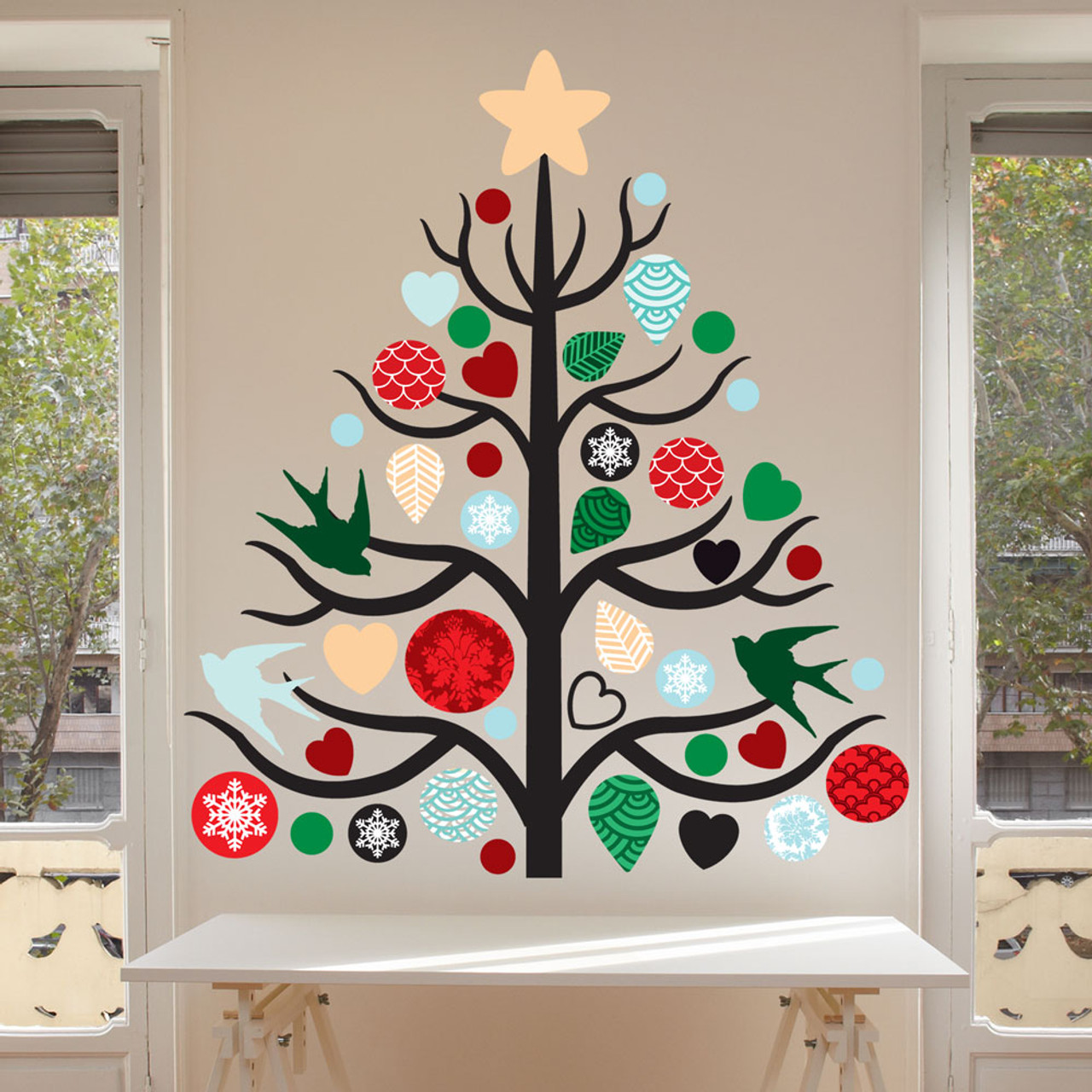 : christmas tree wall decals - www.pureclipart.com