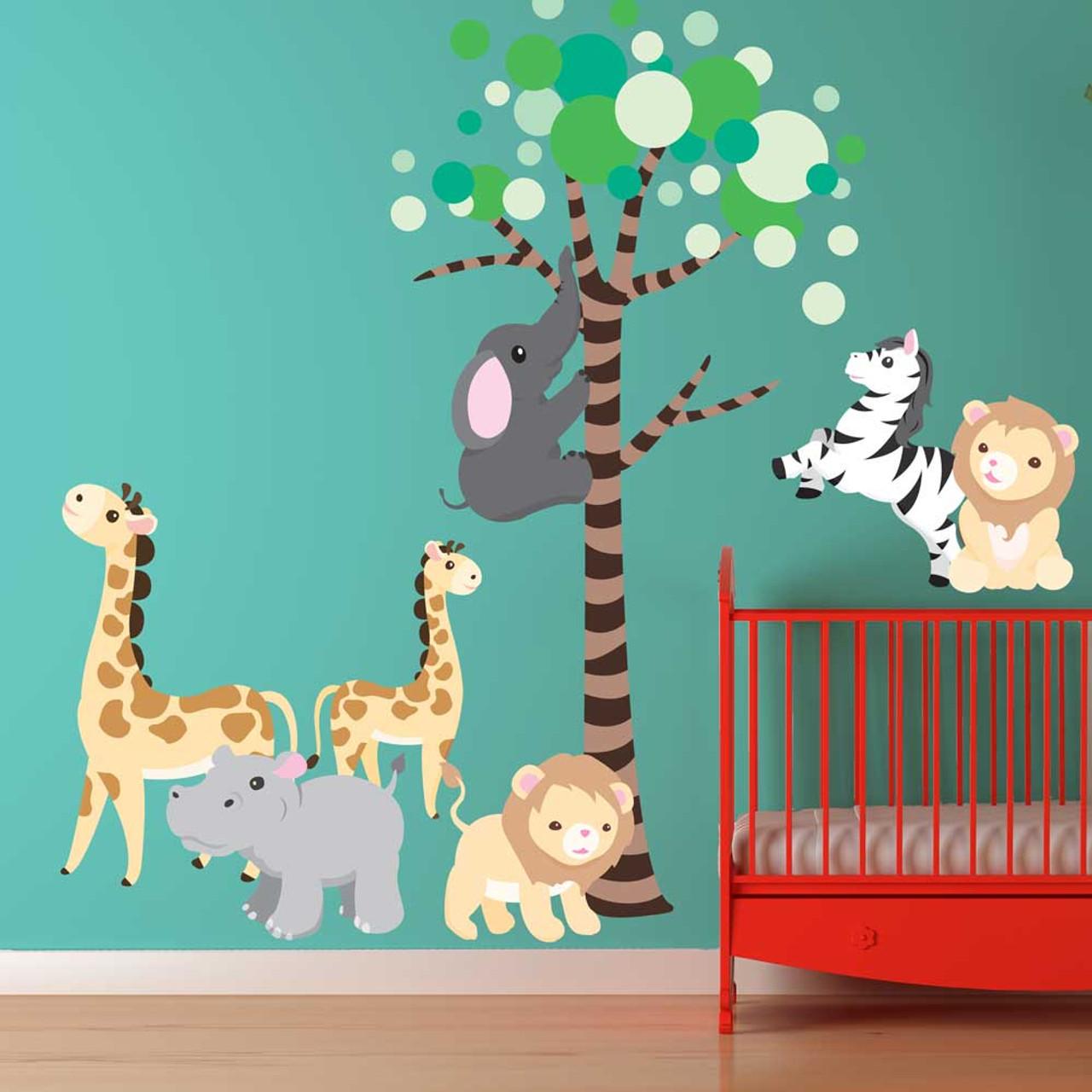sc 1 st  Chromantics & Safari Animals u0026 Tree Wall Decal Set by Chromantics