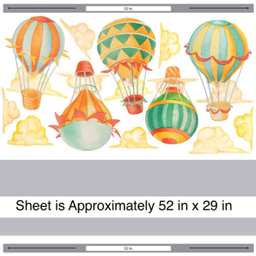 Up away hot air balloon watercolor wall decal kit hot air up away hot air balloon watercolor wall decal kit in traditional colors by chromantics gumiabroncs Choice Image