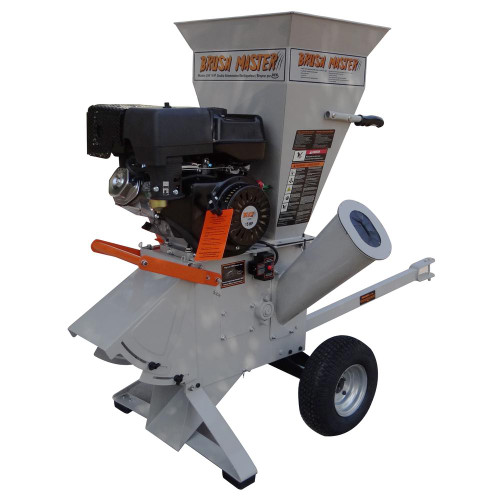 CH9 Scratch and Dent-Brush Master 5in diameter feed with Electric Start Commercial Duty Chromium Gas Wood Chipper