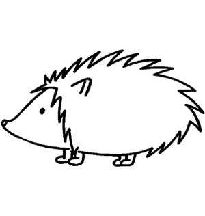 Classic Hedgehog Decal