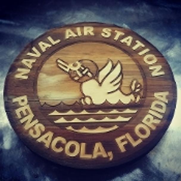 "7"" Wood NAS Pensacola Logo"