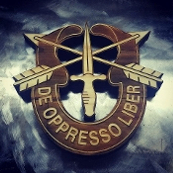 """7"""" Wood Special Forces Crest"""