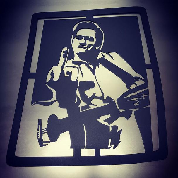 Johnny cash Cutout