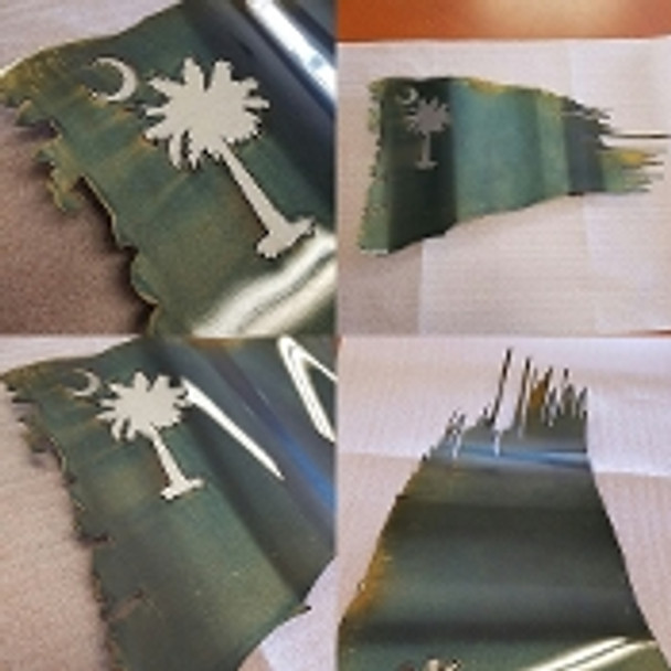 "South Carolina Battle Worn Flag 36""x 21"""