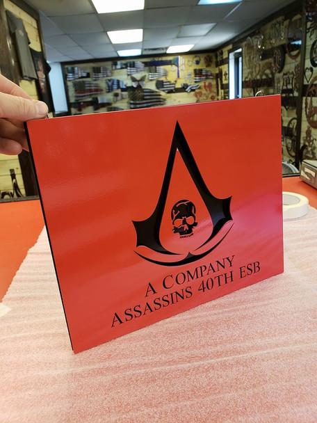 """A Company assassians 8"""" x 10"""" Plaque"""