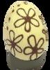 Hollow white chocolate art egg 105mm high $10.90