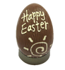 """Happy Easter"" hollow milk chocolate egg 215mm $35.00"