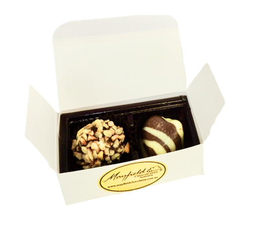 White box - 2 chocolates $4.90