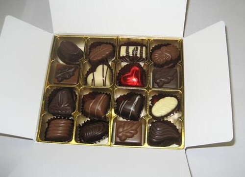 White box - 16 chocolates with 1 Red Heart $34.50
