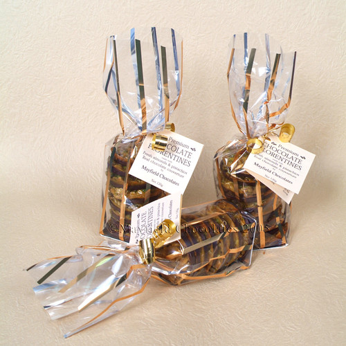 Dark Chocolate Florentines - Gold pack 130g $12.00