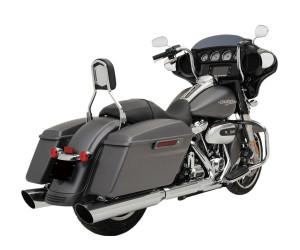 Khrome Werks 4.50 HP-Plus Slip On Mufflers for Harley Davidson Touring Models 2017-Up, Slash Down -Chrome