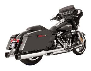 S&S El Dorado True Dual Exhaust System for Harley Davidson Touring Models '17-Up - Chrome w/ Tracer End caps