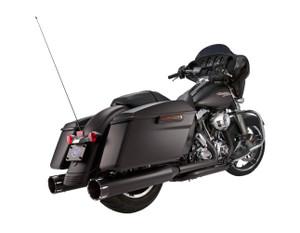 S&S El Dorado True Dual Exhaust System for Harley Davidson Touring Models '17-Up - Black w/ Tracer End caps