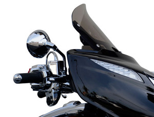 Wind Vest Gunsmoke Windshields for '15-Up Indian Chieftain and Roadmaster - Dark Smoke Select 10 inch or 12 inch