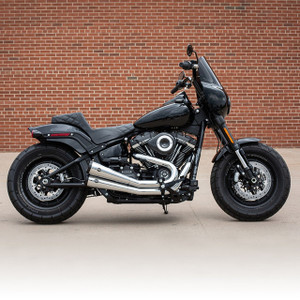 S&S Cycle Grand National 2-into-2 49 State Exhaust System for '18-Up Harley Davidson Softail Fat Bob Models - Chrome