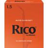 Rico Alto Clarinet Reeds, Strength 1.5, 10-pack