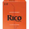 Rico Alto Clarinet Reeds, Strength 2.0, 10-pack
