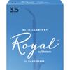 Rico Royal Alto Clarinet Reeds, Strength 3.5, 10-pack