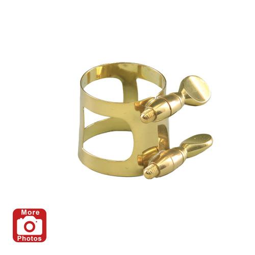 Yamaha YAC-1609P Alto Saxophone Ligature; Gold Lacquer