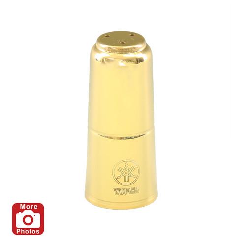 Yamaha YAC-1635GP Soprano Saxophone Mouthpiece Cap; Gold Lacquer