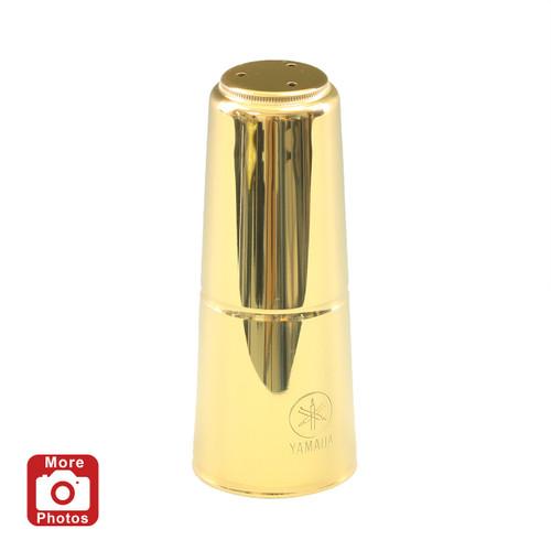 Yamaha YAC-1652P Tenor Saxophone Mouthpiece Cap; Gold Lacquer