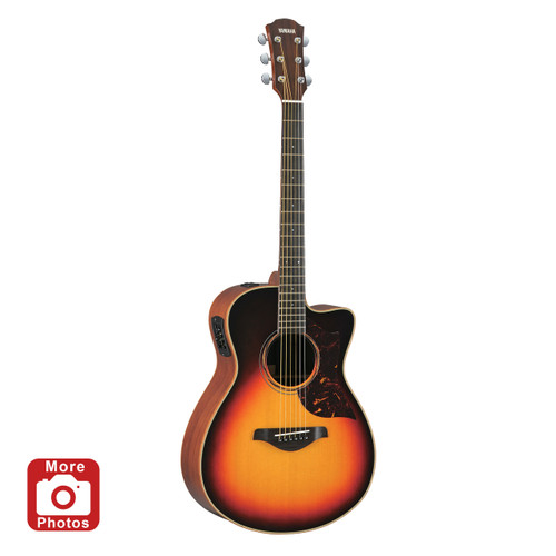 Yamaha AC3MVS Acoustic-Electric Guitar; Vintage Sunburst; with Hard-Shell Case