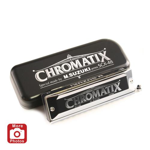 Suzuki Chromatix SCX-48 12 Hole Chromatic Harmonica, Key of A