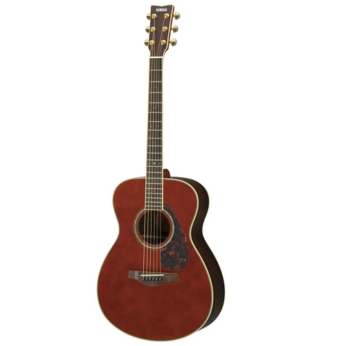 Yamaha LS6RDARKTINTEDHC Handcrafted Acoustic Guitar with Hard-Shell Case; Dark Tinted