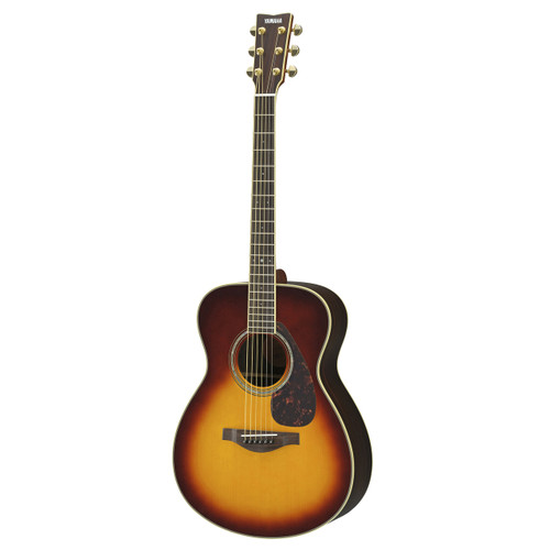 Yamaha LS6RBSHC Handcrafted Acoustic Guitar with Hard-Shell Case; Brown Sunburst