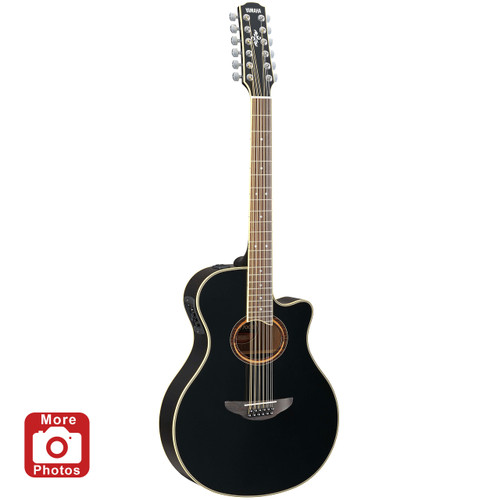 Yamaha APX700II-12BL Acoustic-Electric Guitar; Black; 12 String