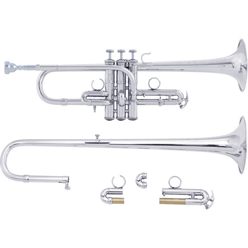 Bach Professional Model ADE190S Eb/D Trumpet, Silver Plated
