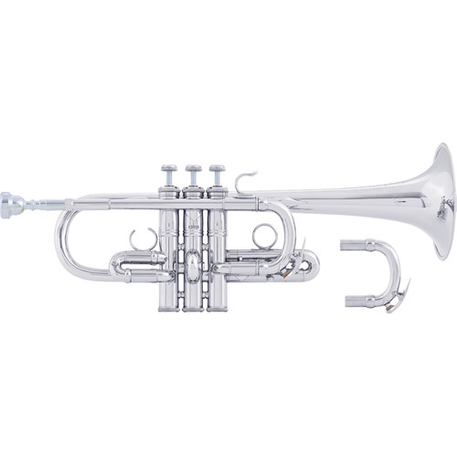 Bach Professional Model AE190S Eb Trumpet, Silver Plated