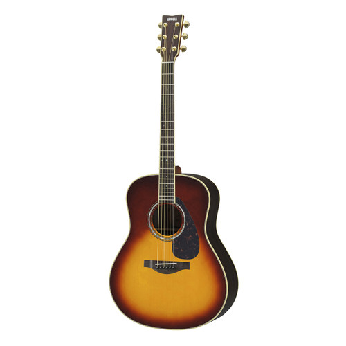 Yamaha LL6RBSHC Handcrafted Acoustic Guitar with Hard-Shell Case; Brown Sunburst