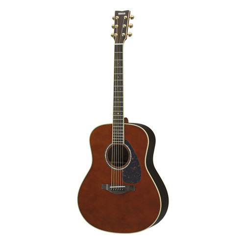 Yamaha LL6RDARKTINTEDHC Handcrafted Acoustic Guitar with Hard-Shell Case; Dark Tinted