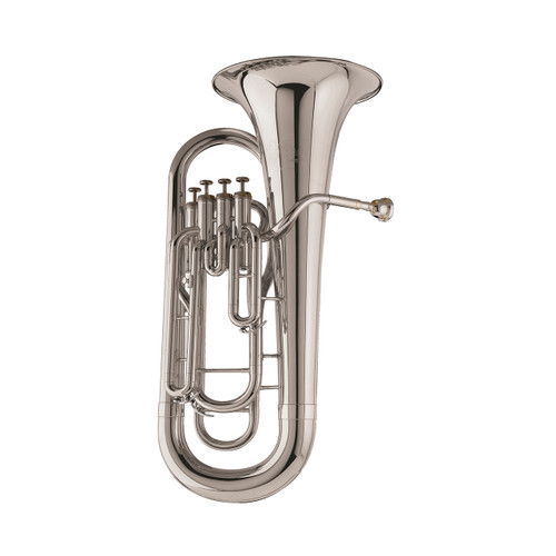 Holton Institutional Model B490RS 4 Valve Euphonium, Silver Plated