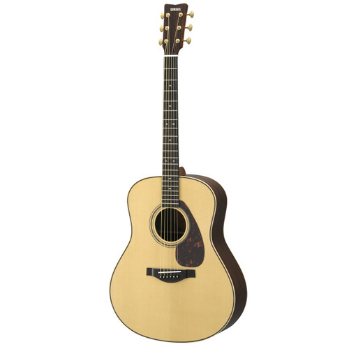 Yamaha LL26R Handcrafted Acoustic Guitar with Hard-Shell Case