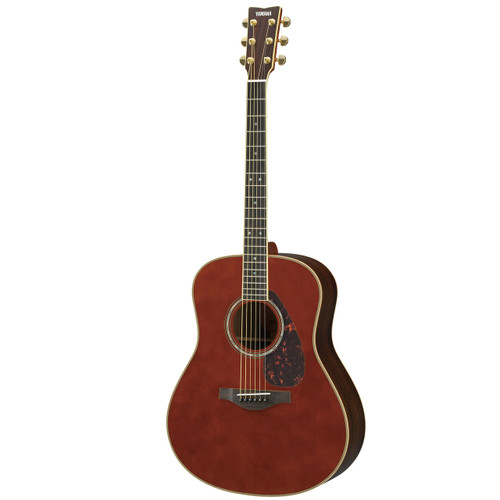 Yamaha LL16RDARKTINTEDHC Handcrafted Acoustic Guitar with Hard-Shell Case; Dark Tinted
