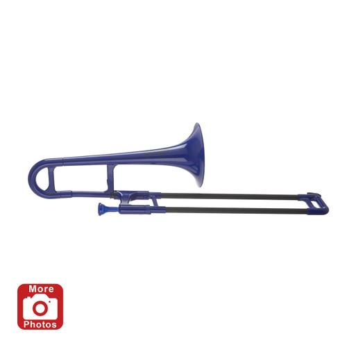 Jiggs pBone mini Plastic Eb Alto Trombone; Blue