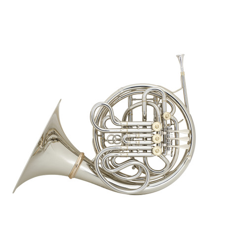 C.G. Conn Professional Model V8DS Double French Horn, Silver Plated