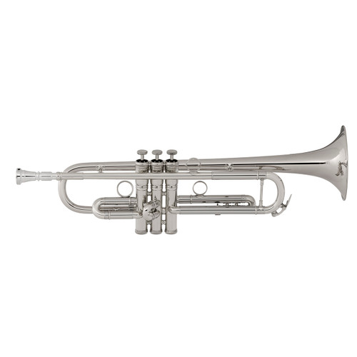 C.G. Conn Professional Model 1BRSP Bb Trumpet, Silver Plated
