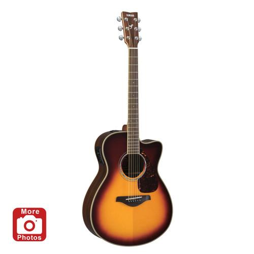 Yamaha FGX730SCBS Acoustic-Electric Guitar; Brown Sunburst