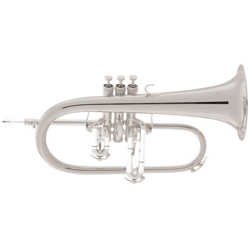 King Professional Model 2020SP Flugelhorn, Silver Plated