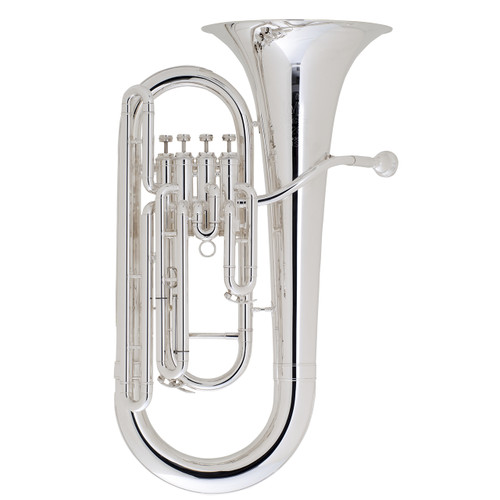 King Step-Up Model 2280SP 4 Valve Euphonium, Silver Plated