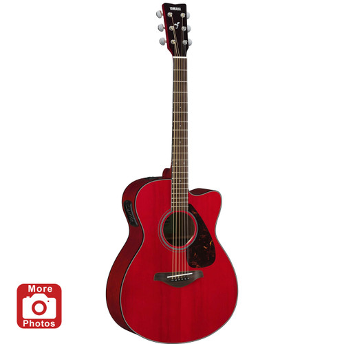 Yamaha FSX800CRR Acoustic-Electric Guitar; Ruby Red